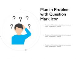 Man In Problem With Question Mark Icon