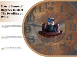 Man In Sense Of Urgency To Meet The Deadline At Work