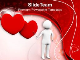 Man Is Explaining The Love Wedding PowerPoint Templates PPT Themes And Graphics 0213