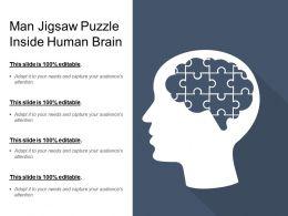 Man Jigsaw Puzzle Inside Human Brain