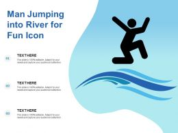 Man Jumping Into River For Fun Icon