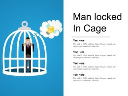 Man Locked In Cage Powerpoint Templates