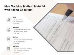 Man Machine Method Material With Filling Checklist
