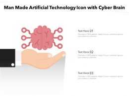 Man Made Artificial Technology Icon With Cyber Brain