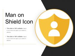 Man On Shield Icon