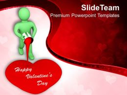 Man Painting Valentines Heart PowerPoint Templates PPT Themes And Graphics 0213