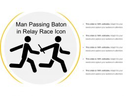 Man Passing Baton In Relay Race Icon