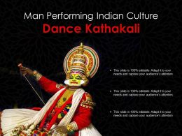 Man Performing Indian Culture Dance Kathakali