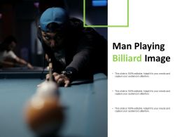 Man Playing Billiard Image