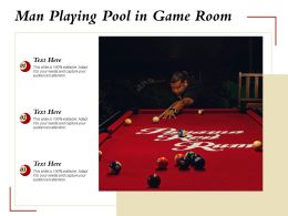 Man Playing Pool In Game Room