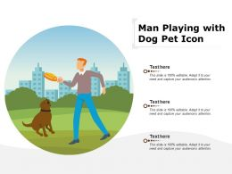 Man Playing With Dog Pet Icon