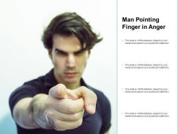 Man Pointing Finger In Anger