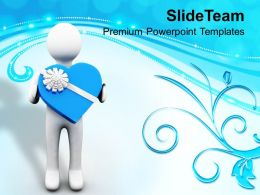 Man Presenting Valentine Gift PowerPoint Templates PPT Themes And Graphics 0213