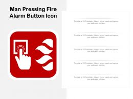 Man Pressing Fire Alarm Button Icon