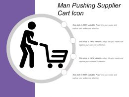 Man Pushing Supplier Cart Icon