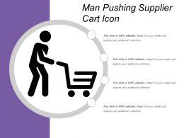 Man Pushing Supplier Cart Icon