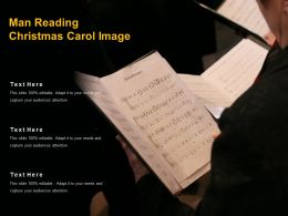 Man Reading Christmas Carol Image