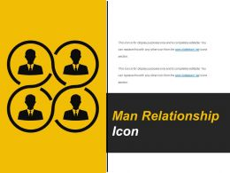 Man Relationship Icon Example Ppt Presentation