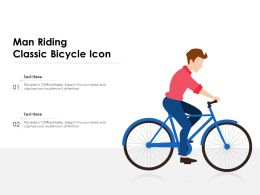 Man Riding Classic Bicycle Icon