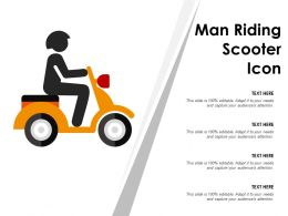 Man Riding Scooter Icon