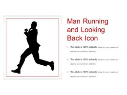 Man Running And Looking Back Icon