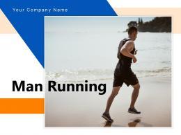 Man Running Athletic Business Exercising Riverside Suitcase