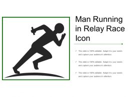 Man Running In Relay Race Icon