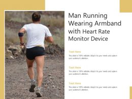Man Running Wearing Armband With Heart Rate Monitor Device