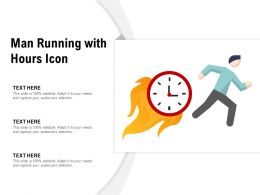 Man Running With Hours Icon