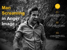 Man Screaming In Anger Image