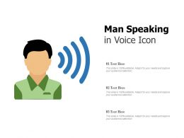 Man Speaking In Voice Icon