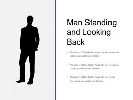 Man Standing And Looking Back