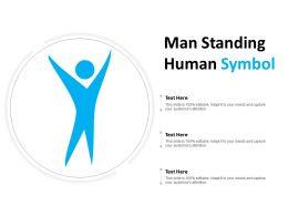 Man Standing Human Symbol