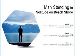 Man Standing In Solitude On Beach Shore