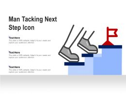 Man Taking Next Steps Icon