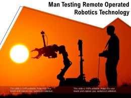 Man Testing Remote Operated Robotics Technology
