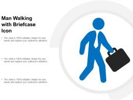 Man Walking With Briefcase Icon