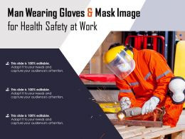 Man Wearing Gloves And Mask Image For Health Safety At Work