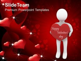 Man With A Heart Youth Valentines Day Youth PowerPoint Templates PPT Themes And Graphics 0213
