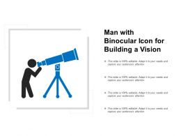 Man With Binocular Icon For Building A Vision