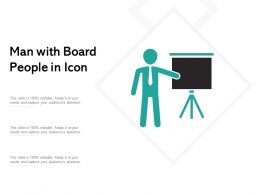 Man With Board People In Icon