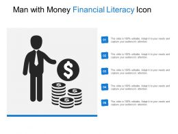 Man With Money Financial Literacy Icon