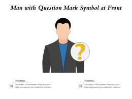 Man With Question Mark Symbol At Front