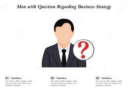 Man With Question Regarding Business Strategy