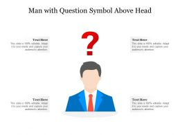 Man With Question Symbol Above Head