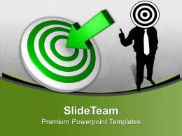 Man With Target Board Aim Goal Powerpoint Templates Ppt Themes And Graphics 0313