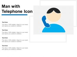 Man With Telephone Icon