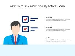 Man With Tick Mark On Objectives Icon