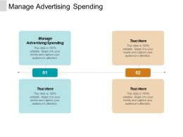 Manage Advertising Spending Ppt Powerpoint Presentation Infographic Template Templates Cpb