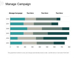 Manage Campaign Ppt Powerpoint Presentation Pictures Show Cpb